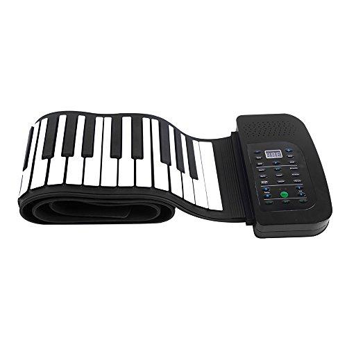 ammoon Roll Up Klavier Tragbare 88 Tasten Silikon Flexible Roll Up Klavier Faltbare Keyboard Handwalzen Klavier mit Akku Sustain Pedal