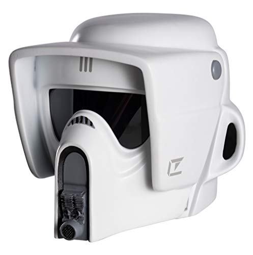 Rubie's Men's Star Wars Collectors Edition Scout Trooper Helmet, White, One Size