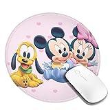 マウスパッド ミッキーミニー 円形 防水 洗える 耐久性 滑り止め オフィス 高級感 おしゃれ かわいい