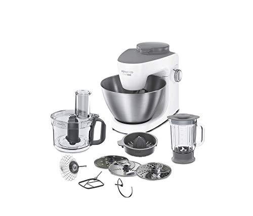Kenwood KHH321 Robot de cocina, función Pulse, 1000 W, 4.3 litros, Acero Inoxidable/plástico, 5 Velocidades, Blanco/Plata
