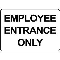 Employee Entrance Only 金属板ブリキ看板警告サイン注意サイン表示パネル情報サイン金属安全サイン