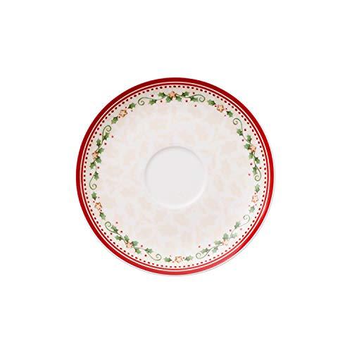 Villeroy & Boch 14-8612-1250 Platillo de Desayuno Winter Bakery Delight, para Navidad, 18 cm, Porcelana, Multicolor
