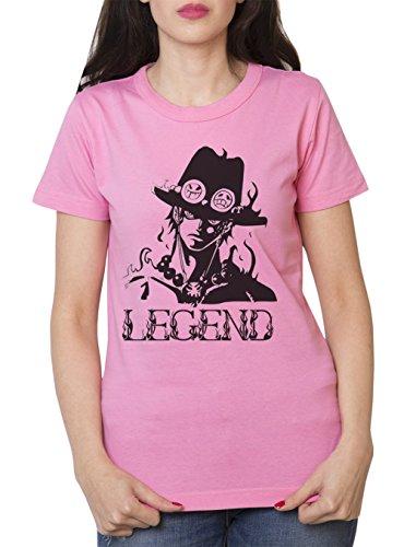 ACE T-Shirt pour Femme Ruffy One Singe Anime Piece Zoro - Rouge - XXL