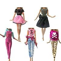 人形用ドレス 人形ファッション服デイリー人形アクセサリーのためのカジュアルドレスシャツスカートドールハウス服を着ます YXJJP (Color : F Not Include Doll, Size : フリー)