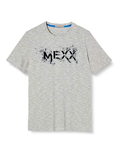 Mexx Mens T-Shirt, Blue Striped, S