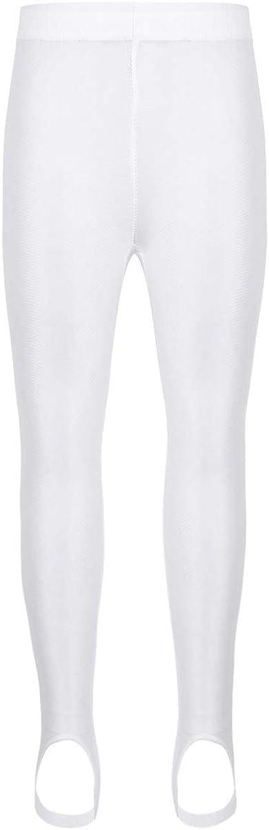 inlzdz Kids Boys Girls Basic Stirrup Pantyhose Stockings Leggings Tights Gymnastics Workout Dance Yoga Pants