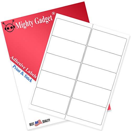 Mighty Gadget etiquetas de dirección de envío, impresoras láser de inyección de tinta, 1000...