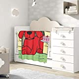 HappyTree Clifford The Big Red Dog Cute Fluffy Baby Blanket Soft Warm Cozy Coral Fleece Toddler, Infant Or Newborn Receiving Blanket for Crib, Stroller