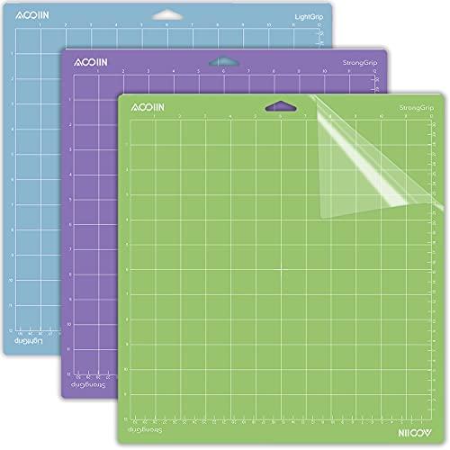 Alfombrilla de corte para Cricut Explore One/Air/Air 2/Maker 3 paquetes de alfombrillas de corte accesorios de repuesto para Cricut (multicolor para Cricut, variedad)