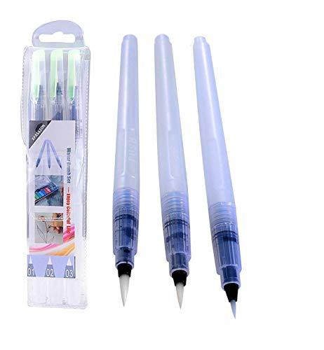Xpassion 6-Piece Water Brush Pen Set, White