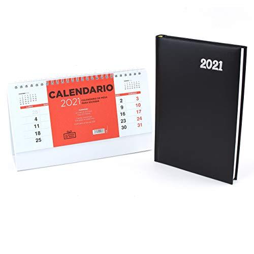Agenda 2021 , 21 x 15cm, Día por Página, Semana Vista, Regalamos un Calentario para su año 2021 Feliz Año (2021)