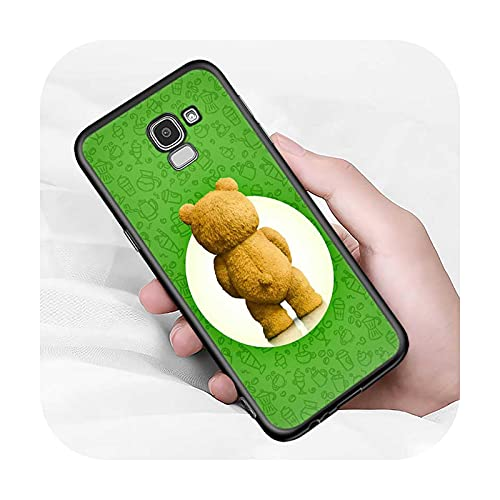 Lindo oso animal para Samsung Galaxy J2 J3 J4 Core J5 J6 J7 J8 Prime duo Plus 2018 2017 2016 suave negro cubierta del teléfono estilo 02-para J5 2016