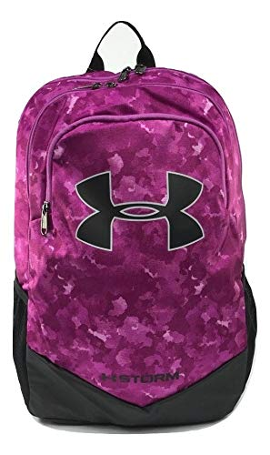 Under Armour Youth Scrimmage Backpack, Fuchsia (665)/Black, One Size Fits All