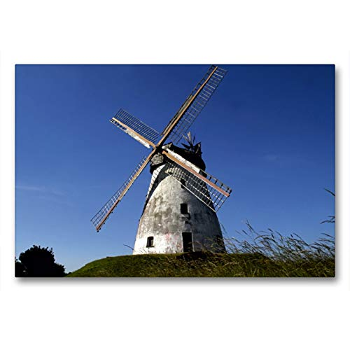 CALVENDO Premium Textil-Leinwand 90 x 60 cm Quer-Format Windmühle Veltheim (Erdholländer), Leinwanddruck von Martina Berg