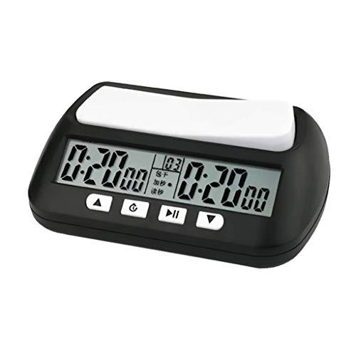 Reloj de ajedrez portátil Temporizador Digital Reloj de Juego de Mesa Cronómetro Negro