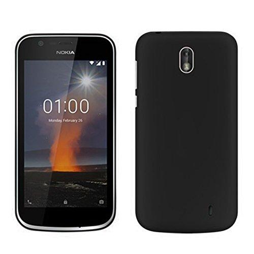 TBOC® Custodia Gel TPU Nera per Nokia 1 (4.5 Pollici) in Silicone Ultra Sottile e Flessibile