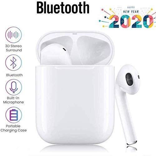 Bluetooth 5.0 Kabellose Kopfhörer, Touch-Kopfhörer mit Mikrofon, automatische Kopplung, Noise Cancelling 3D Stereo wasserdichte Sport-Headset-Kopfhörer für Apple Airpods Android/iPhone/Airpods Pro