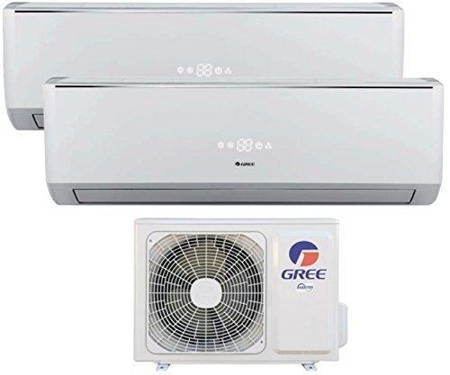 Climatizzatore inverter dual split LOMO 9000 + 9000 Btu (U.E.14) GREE classe A++/A+ - con pompa di calore/deumidificazione