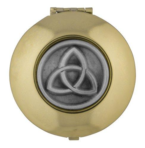 William J. Hirten Gold-Tone PYX with Inlaid Pewter Medal (Trinity Symbol)