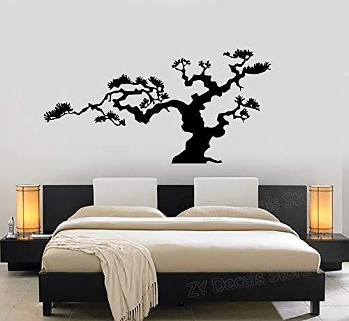 supmsds Árbol de los bonsais japoneses Decoración de la Naturaleza Etiqueta de la Pared Calcomanía de Vinilo Árboles Decoración del hogar Sala de Estar Dormitorio Decorar Papel Tapiz Planta 82x42cm