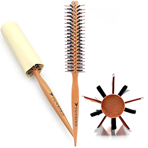 SUNBIRD Small Round Brush,Mini Plastic Nylon Hair Brush, Light And Convenient,1.2 inch ,Volume,Styling,Curling & Curly,Wavy,Thick,or Thin Hair on Men & Women