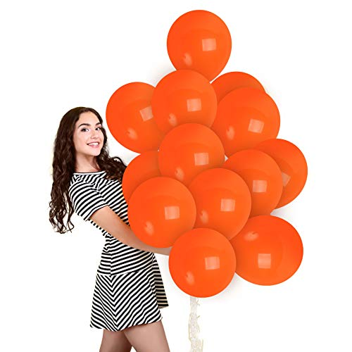 Matte Orange Balloons 36 Pack – Matte Burnt Orange Balloons 12 Inch for Pumpkin Tangerine Vintage Decor Baby Shower Graduation Dinosaur Halloween Fall Birthday Party Decorations