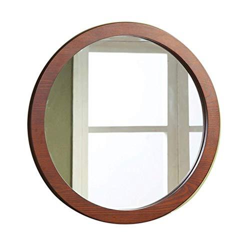 espejo de pared redondo decorativo entero barato Espejo de pared colgante Espejo de vanidad con marco de madera natural Decoración rústica de granja para la sala de estar, baño, dormitorio y entrada