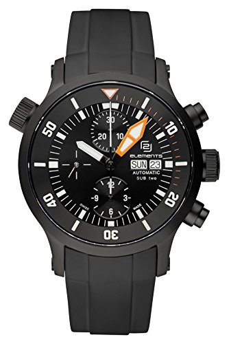2-elements SUB Two Automatik Chronograph ETA Valjoux 7750 (Black Edition)