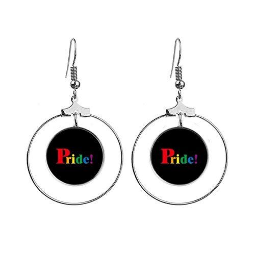 Pride LGBT Regenboog Homo Art Deco Gift Mode Oorbellen Dangle Hoop Sieraden Drop Cirkel