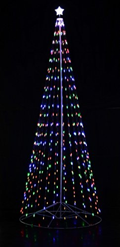 Homebrite Solar 144' 12 ft Outdoor Multi-Color LED Cone Tree w/Collapsible Base with Wireless Remote 61501