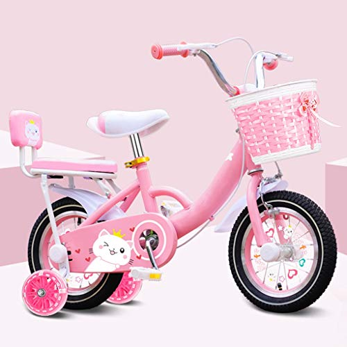 TXTC 12 14 16 18 20 Zoll Kinderfahrrad, Lauflernrad Bike Mit Ständern, Kleinkind Bike Cruiser Bike Mit Stützrad for 2-9 Jahre Alt Mädchen Junge (Color : A, Size : 18in)