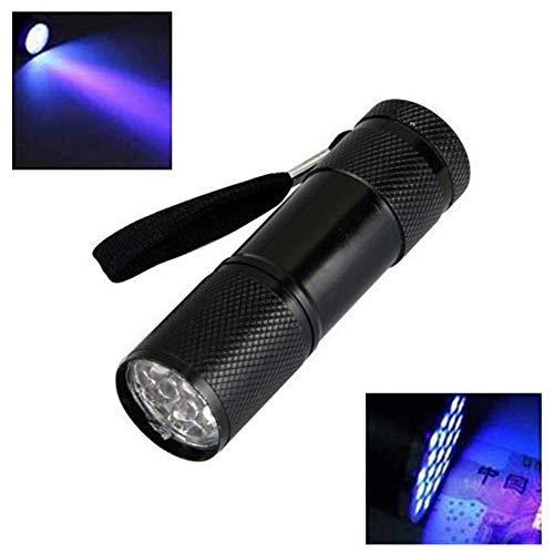 9 LED UV Lampe Mini Taschenlampe Ultraviolett Schwarzlicht UV-Strahler Handlampe, Detektor für Überprüfen von Notizen, Tinten Haustiere, Urin von Hunde, Katzen und andere