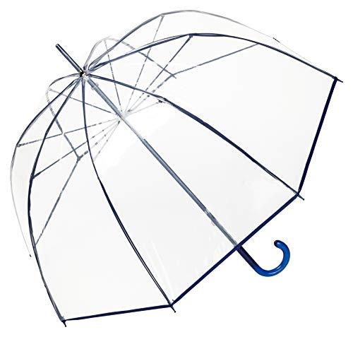 VON LILIENFELD Regenschirm Glockenschirm Transparent Durchsichtig Damen Herren Melina blau