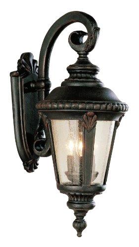 Bel Air Lighting 5044 RT Traditional Three Wall Lantern Outdoor-Post-Lights, Bronze/Dark