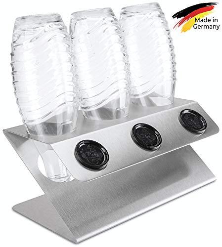 SodaNature™ | 2er - 4er Premium Edelstahl Abtropfhalter für SodaStream Crystal Flaschen | Design Flaschenhalter