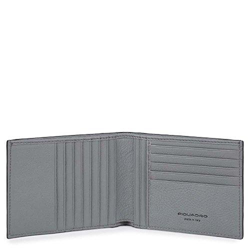 Piquadro Pu1241w86r, Portafoglio Uomo, Nero, 2 x 10 x 12.5 cm (W x H x L)