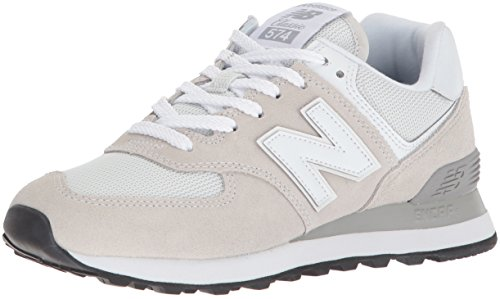 New Balance Damen 574v2 Core Sneaker, Beige (Beige/white), 40.5 EU