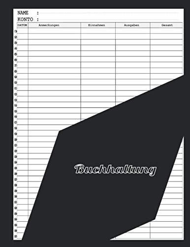 Buchhaltung: Einnahmen Ausgaben Buch für Kleinunternehmer