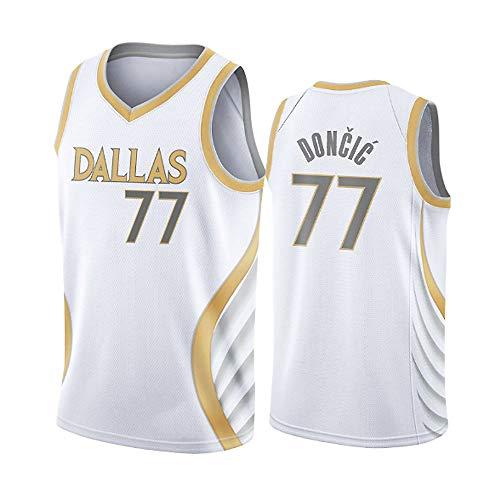Camiseta deportiva de baloncesto de Dallas Mavericks 77 # Luka Doncic para hombre, camiseta deportiva de baloncesto, camiseta deportiva retro de fitne...