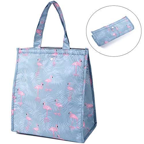yyuezhi Lunchbox Isoliertasche Kühltasche Reisekit Isolierbox Picknicktasche zur Aufbewahrung Tasche Kleine Kühltasche Lunch Tasche Isoliertasche Zur Arbeit und Schule Gehen Faltbar Wasserdicht