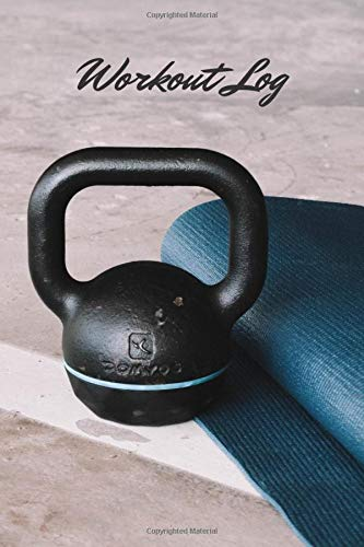 Workout Log - cover with kettlebell - journal for women and men - planning exercises book - check your weight - home gym exercise log - scheduled exercises - fitness planner (Italian Edition)