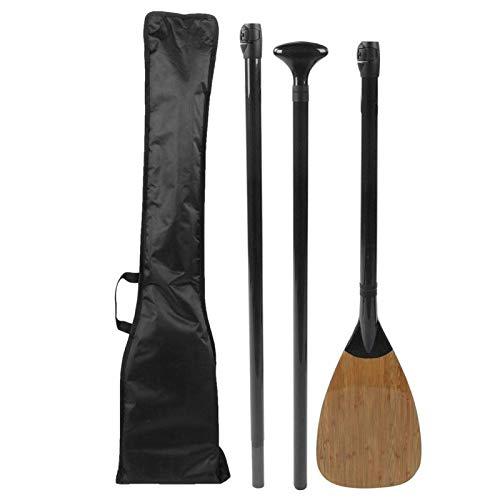 DAUERHAFT Remo para Kayak, 3 Secciones, Longitud Ajustable, Paleta de Fibra de Carbono, paletas de pie, para Tabla de Surf, Bote Inflable para Kayak, candado de liberación rápida