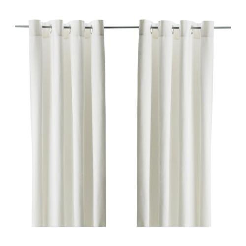 Ikea 900.468.43 Vorhang-Paar MERETE blickdichte Gardinen aus 100% Baumwolle-schwere Qualität-145x300cm