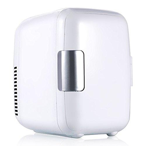 Mini Frigoriferi per Auto 4 Litri 12V Portatile e Silenzioso Frigo Riscalda e Raffredda Frigoriferi per Auto (Bianco)
