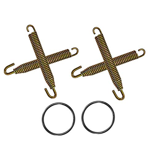 Heavy Duty PIPE SWIVEL SPRINGS and EXHAUST GASKETS Compatible with YAMAHA YFZ350 BANSHEE 1987-2006