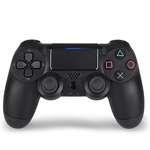 Wireless Controller, PS4 Controller Oplaadbare Joystick Gamepad Ingebouwde Vibratie Motor Met Touchpad En De Light Bar En Audio-Aansluiting,Black