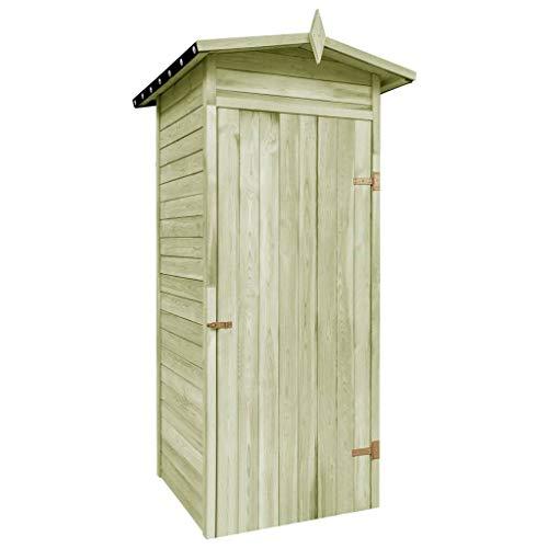 Disfruta Tus Compras con Caseta de almacenaje de jardín Madera de Pino 100x100x210 cm