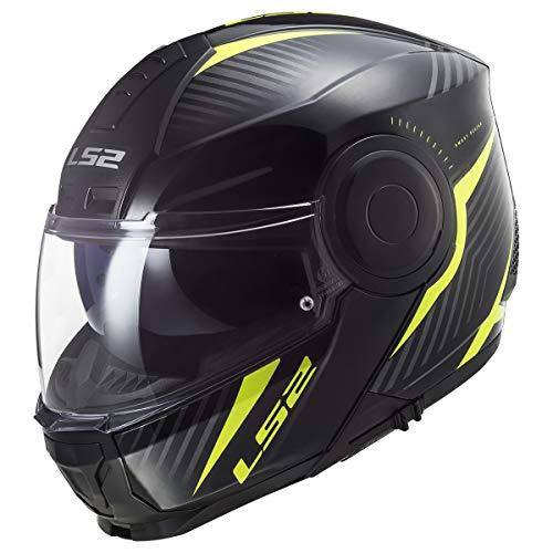 LS2 Helmets Horizon Modular Helmet W/SunShield (Matte Black - Large)