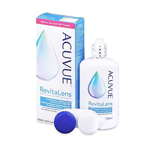 ACUVUE RevitaLens MPDS – Pflegemittel & Reiniger für weiche Kontaktlinsen mit antimikrobieller Wirkung – Wirkt mehr als 16 Stunden – Reisegröße – 1 x 100 ml Kombilösung