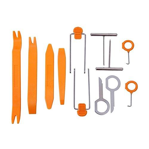 Kit de 12 outils de démontage de panneaux de voiture, outils universels de qualité pour retirer les garnitures intérieures, panneaux de porte et de bord, autoradios, systèmes stéréo